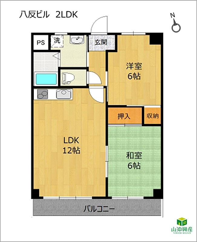 八反ビルの室内図