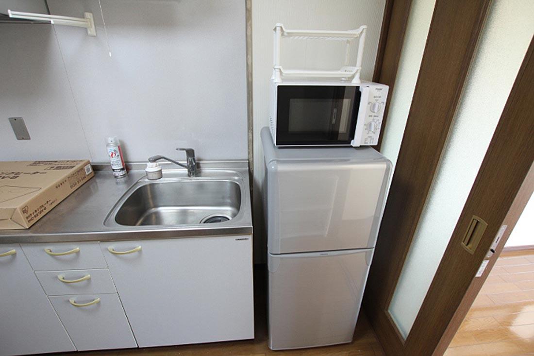 電子レンジ + 冷蔵庫